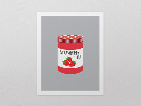 "Strawberry Jelly Can Art Print (8""x10"") - The Supermarket Series"