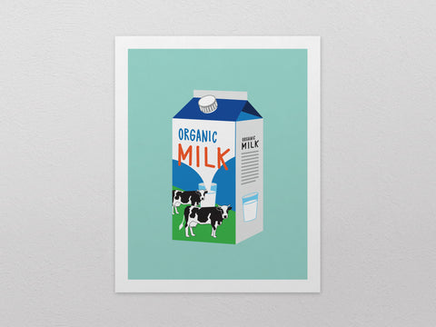 "Milk Carton Art Print (8""x10"") - The Supermarket Series"
