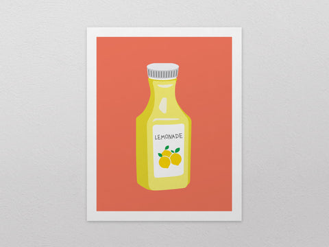 "Lemonade Art Print (8""x10"") - The Supermarket Series"