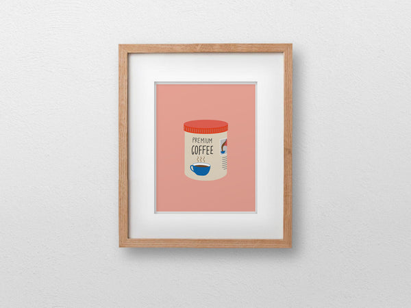 "Coffee Tin Art Print (8""x10"") - The Supermarket Series"