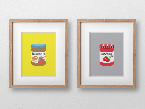"Peanut Butter & Jelly Art Print (2 of 8""x10"" Prints) - The Supermarket Series"