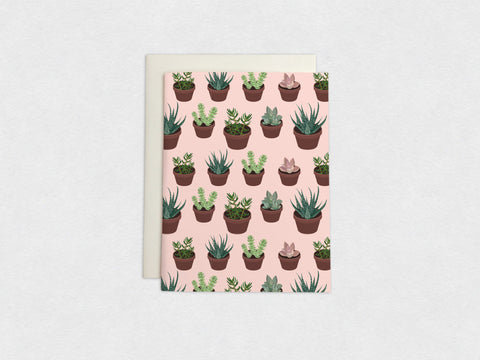 Succulents & Cactus Plants Card (1/4)