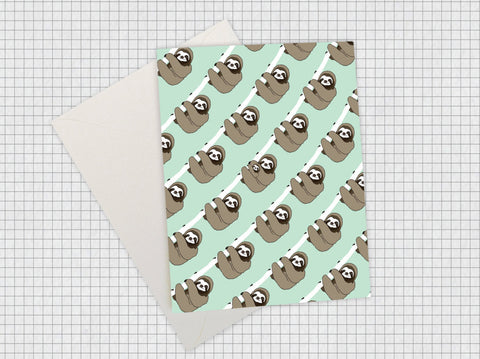 Sloth Pattern Card