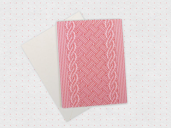 Knitted Sweater Card