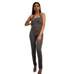 Grey Hang neck jumpsuit