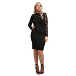 Laced Neck black dress