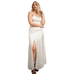 Side Split  Backless Strap Maxi Dress