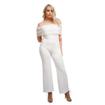 Off Shoulder High Waist Jumpsuit