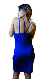 V-Neck Backless Dress