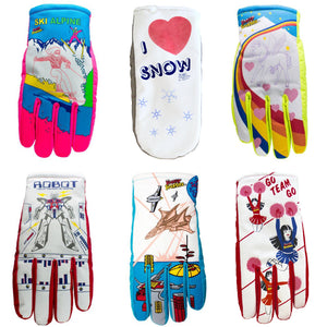 2018-2019 Freezy Freakies original glove designs for kids and adults
