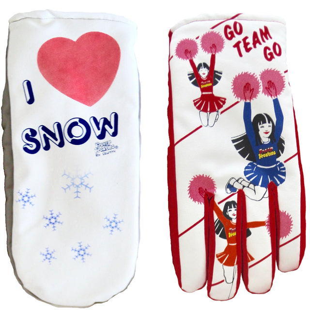 I Love Snow mitten and Cheerleader Freezy Freakies are back