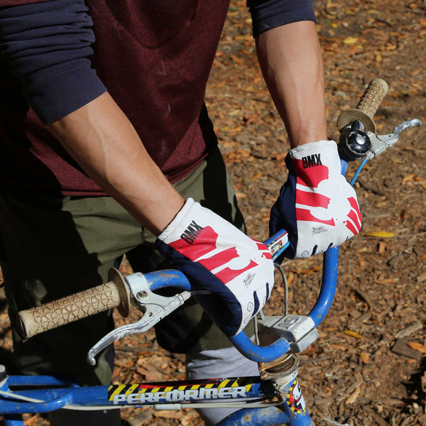 BMX Freezy Freakies gloves in blue