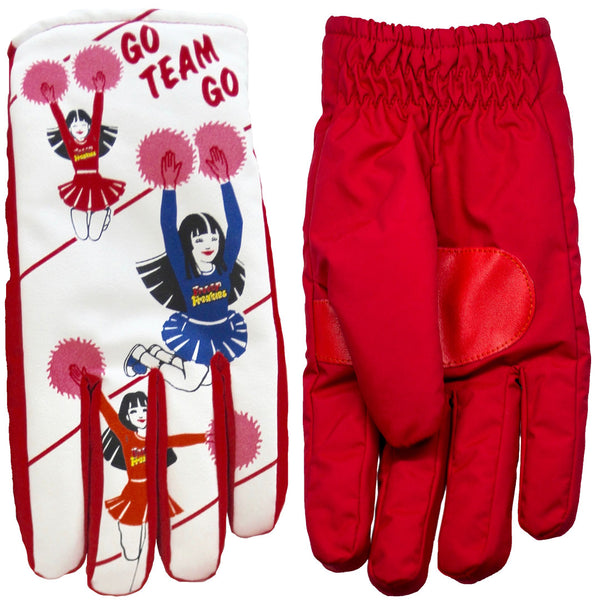 Cheerleader Freezy Freakies gloves front and back sides