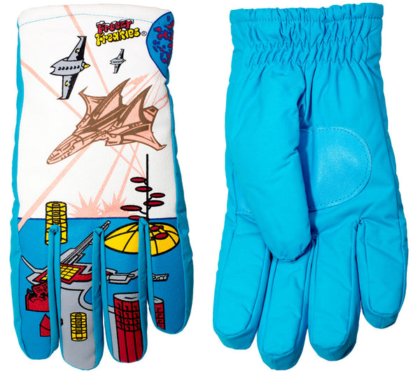 Fighter Jet Freezy Freakies gloves front and back