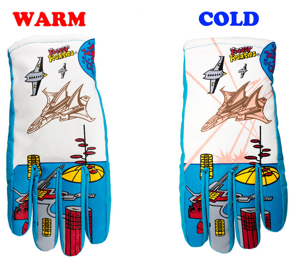 Fighter Jet Freezy Freakies gloves warm cold comparison
