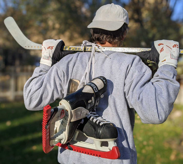 Freezy Freakies Slap Shot Hockey gloves with the cool guy doing the classic totally casual over the shoulder sling pose