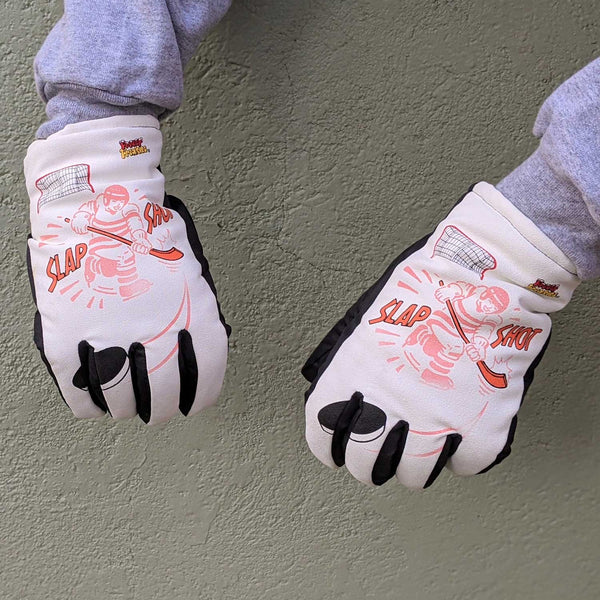 Freezy Freakies Slap Shot Hockey gloves in cold activated mode