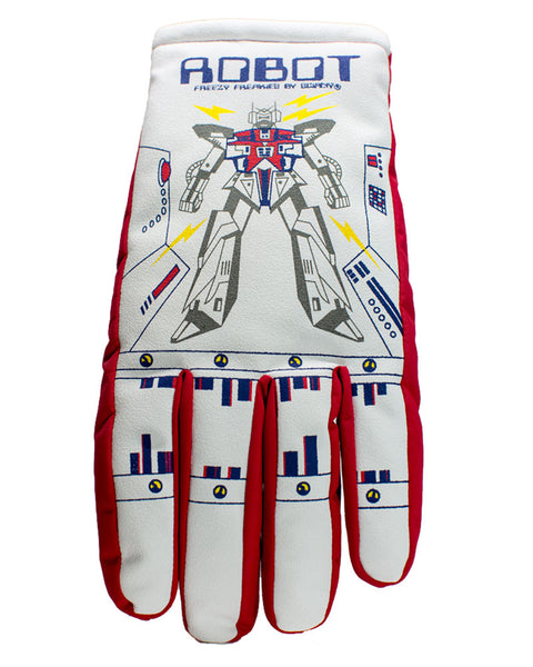 Robot Freezy Freakies gloves for adults