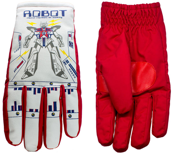 Robot Freezy Freakies gloves front and back