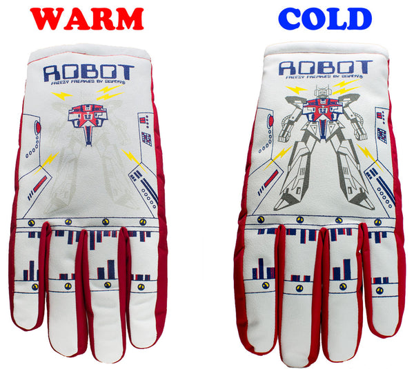 Robot Freezy Freakies gloves warm cold comparison