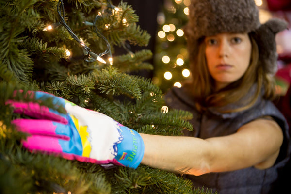 Ski Alpine Freezy Freakies gloves are perfect for bushwacking through the Christmas tree lot