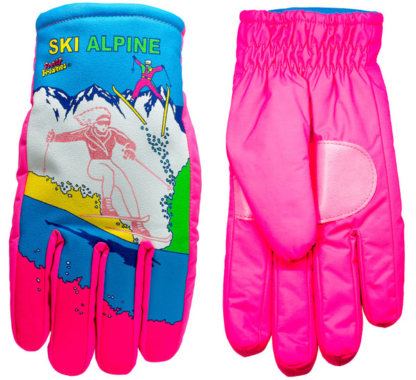 Ski Alpine Freezy Freakies gloves front and back