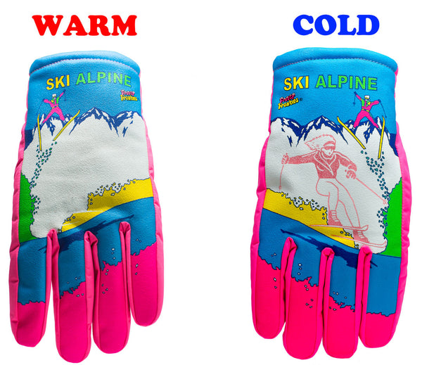 Ski Alpine Freezy Freakies gloves warm cold comparison