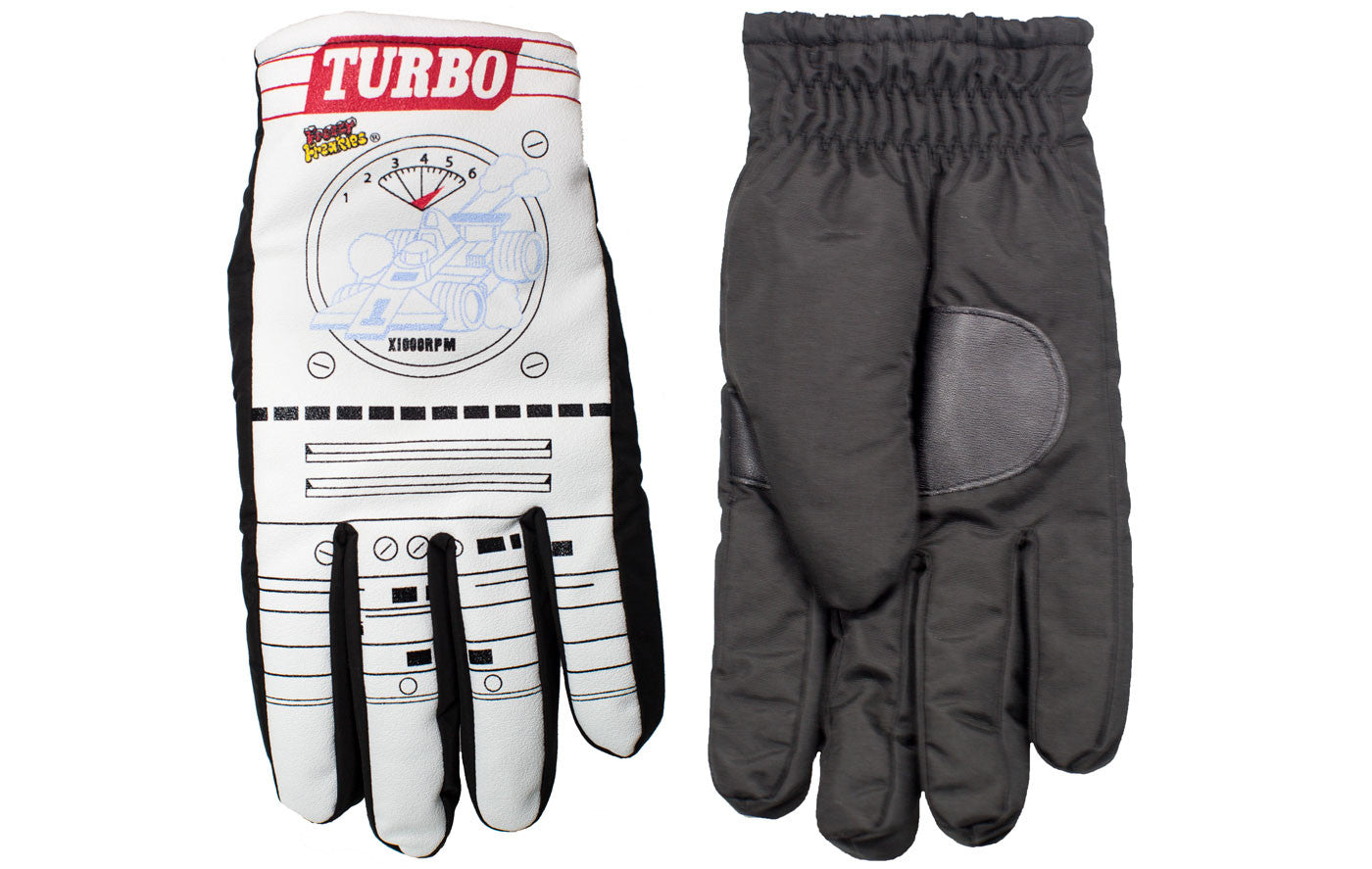 Turbo Freezy Freakies gloves for adults front and back