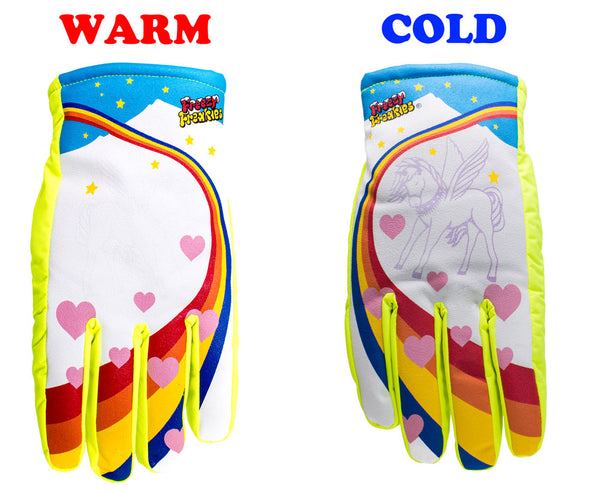 Freezy Freakies Unicorn gloves warm cold comparison