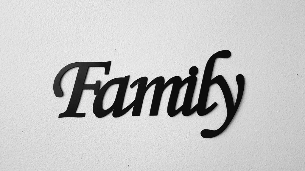 Family Metal Wall Art family word sign monotype font metal wall art – say it all on the wall