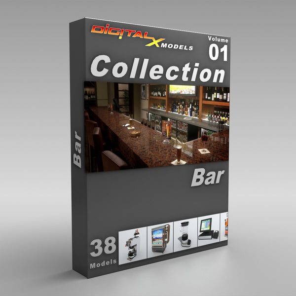 3d Model Collection Volume 1 Bar Digitalxmodels Com