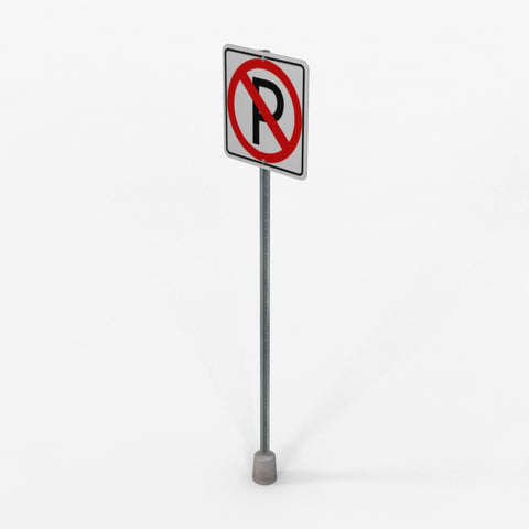 Free Model 04 - No Parking Sign