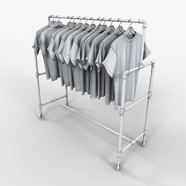 Free Model 11 - Hanging T-Shirt Rack