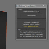Free Maxscript - CoLinear Vertex Cleaner
