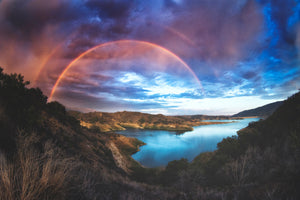 Lake Casitas Double Rainbow