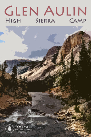 Glen Aulin Yosemite High Sierra Camp   12 x 18""