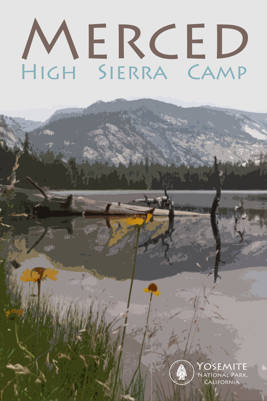 Merced Yosemite High Sierra Camp 12 x 18""