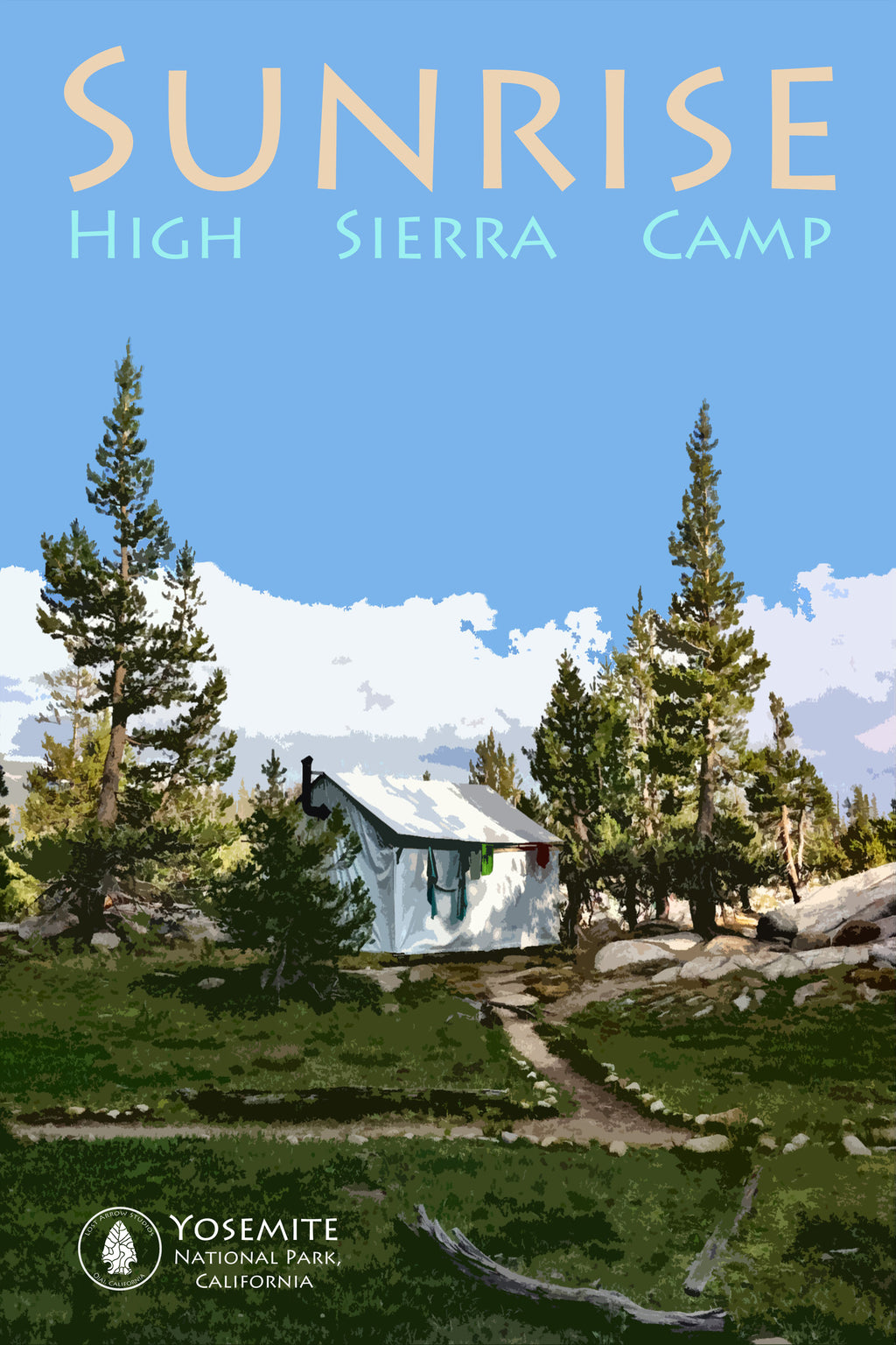 Sunrise High Sierra Camp Poster 12 x 18""