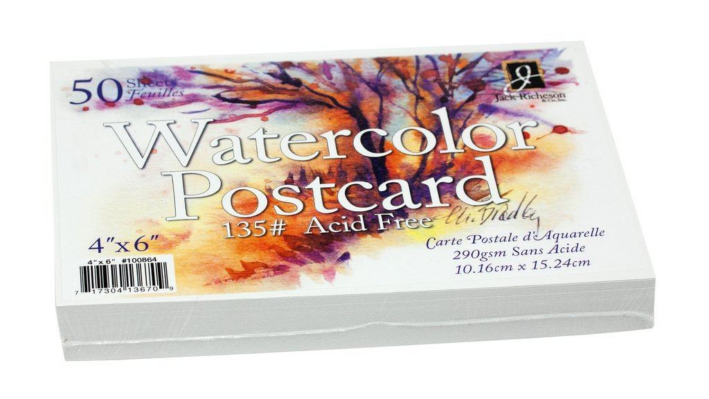 Watercolour Postcards 50pk
