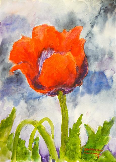 Poppies in Paint