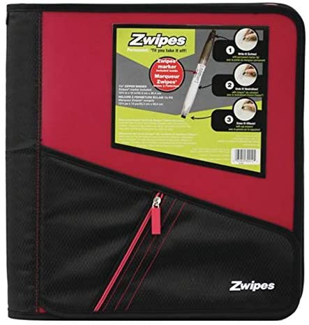 "Zippered 1.5"" Zwipes Binders"