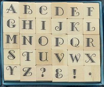 Studio G Wood Alphabet Stamps