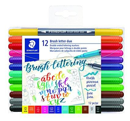 Brush Letter Duo 12-Set