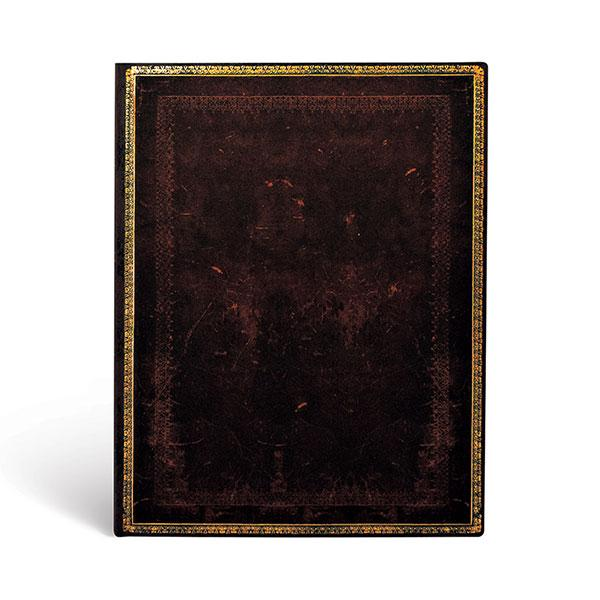"Black Moroccan Bold 7x9"" Blank Flexi Journal"