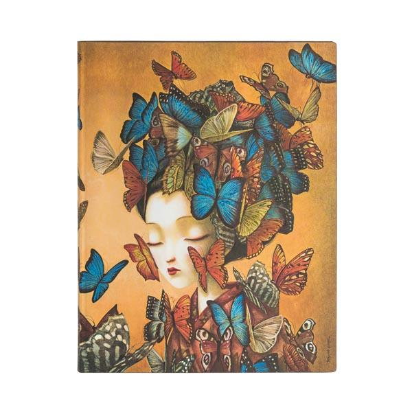 "Madame Butterfly 7x9"" Blank Flexi Journal"