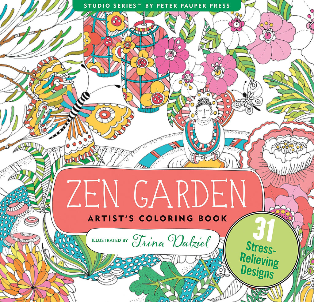 Zen Garden - Artist's Colouring Book