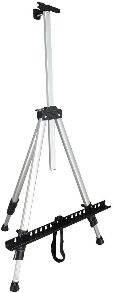 Silver Aluminum Field Easel & Travel Case
