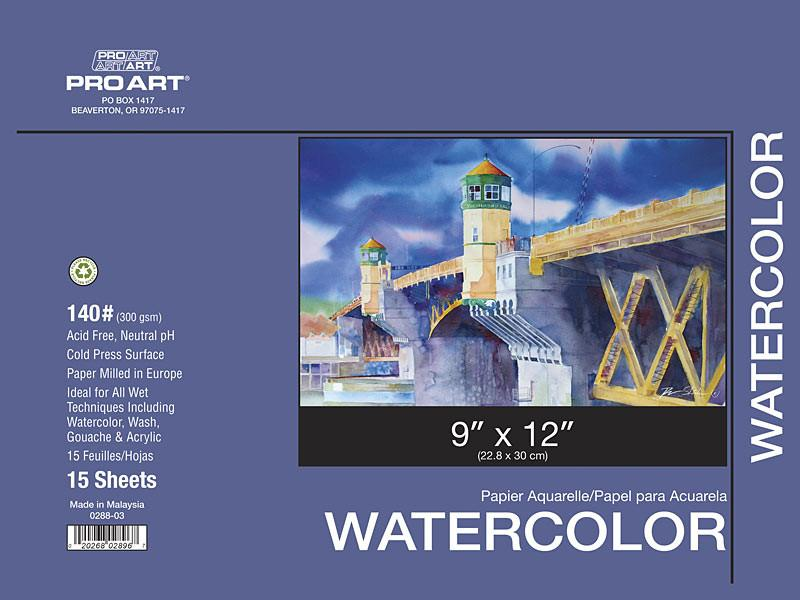 Pro Art Watercolour Pads & Blocks