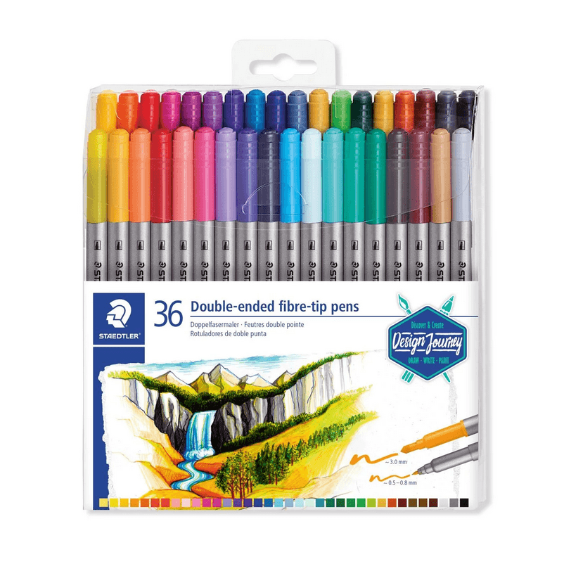 Double Ended Fibre-tip Pen Sets