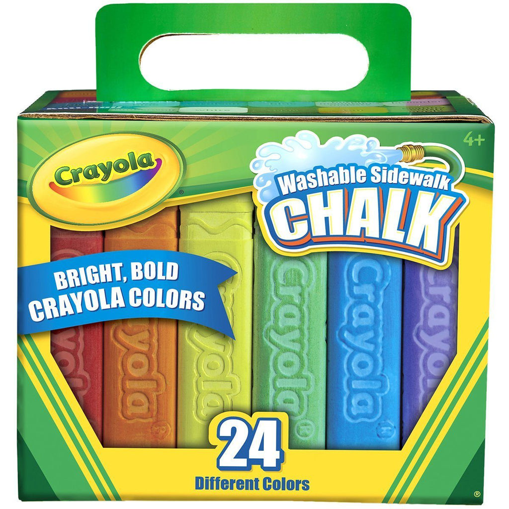 Washable Sidewalk Chalk 24-Colour